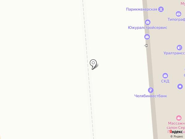 Атис на карте Челябинска