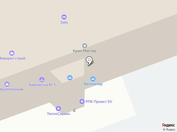 Проект SV на карте Челябинска