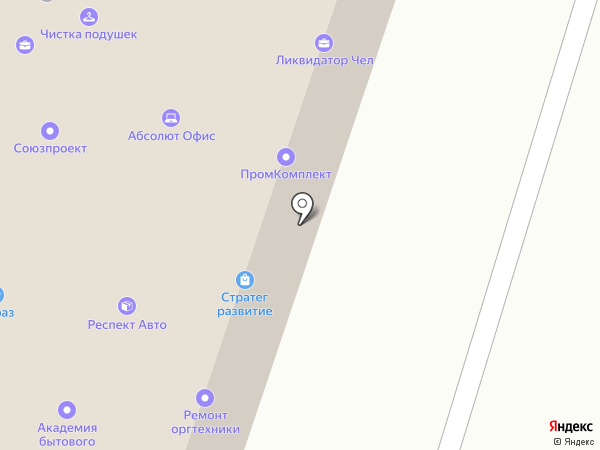 Курочкино-1 на карте Челябинска