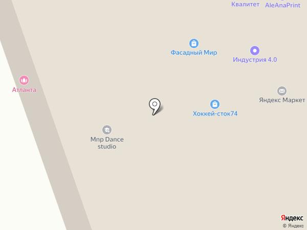 Астра-Промо на карте Челябинска