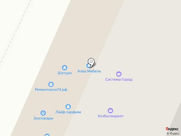 ЛИСЕНОК на карте Челябинска