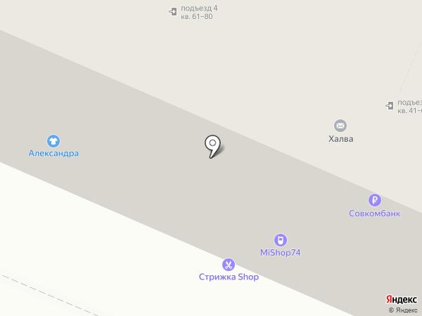 Гончаров на карте Челябинска