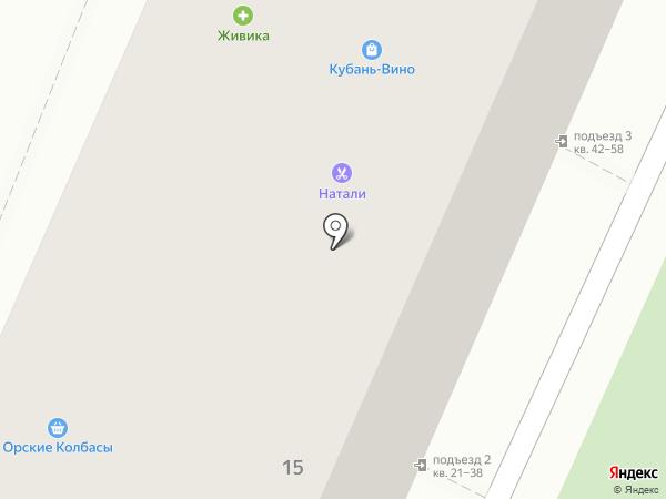 Юничел на карте Челябинска