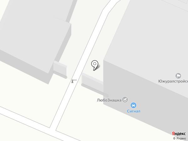 Потребительский гаражно-строительный кооператив №321 на карте Челябинска