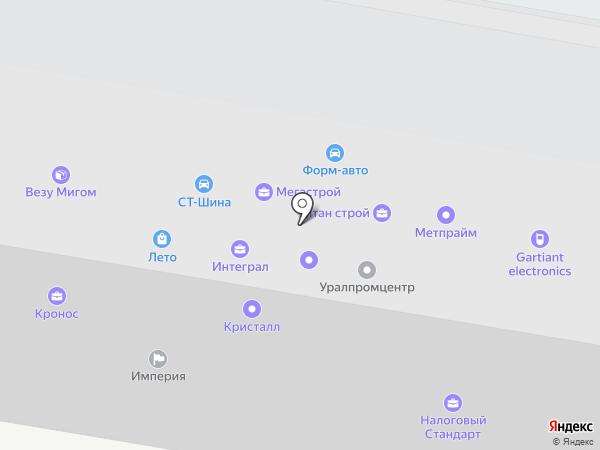 Урал-Прибор на карте Челябинска