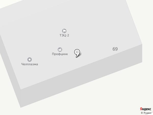 ТЭЦ-2 на карте Челябинска