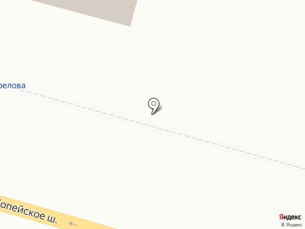 Продуктовый магазин на Копейском шоссе на карте Челябинска