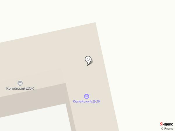 Копейский ДОК на карте Копейска