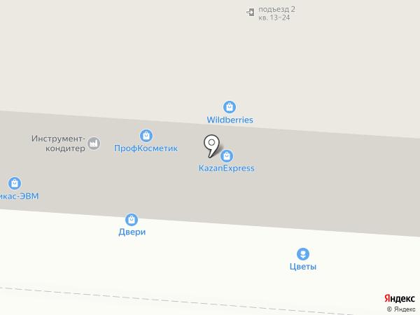 Никас-ЭВМ на карте Копейска