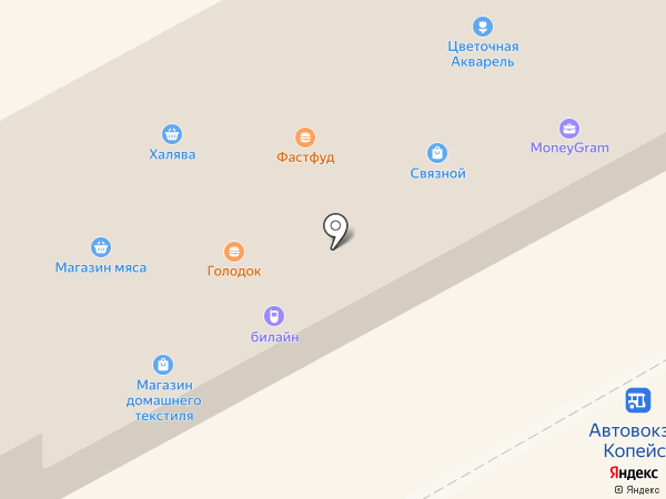 Билайн на карте Копейска