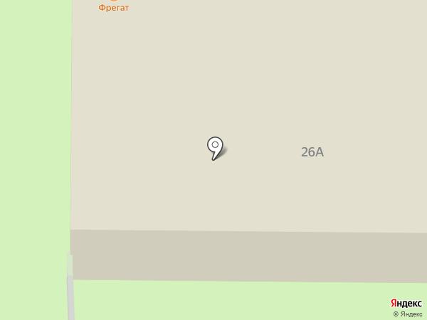 Фрегат на карте Копейска