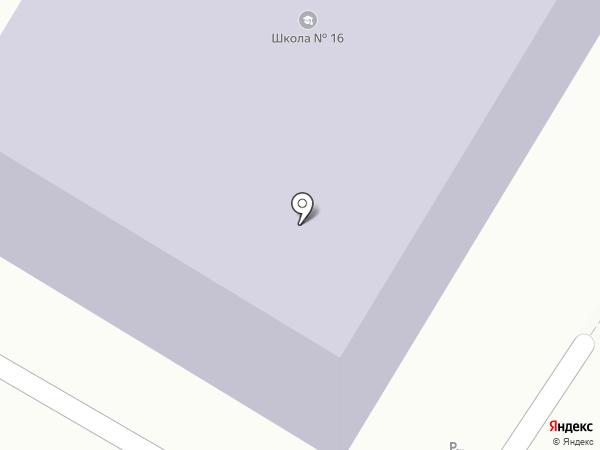 Средняя общеобразовательная школа №16 на карте Копейска