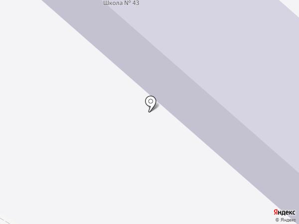 Средняя общеобразовательная школа №43 на карте Копейска