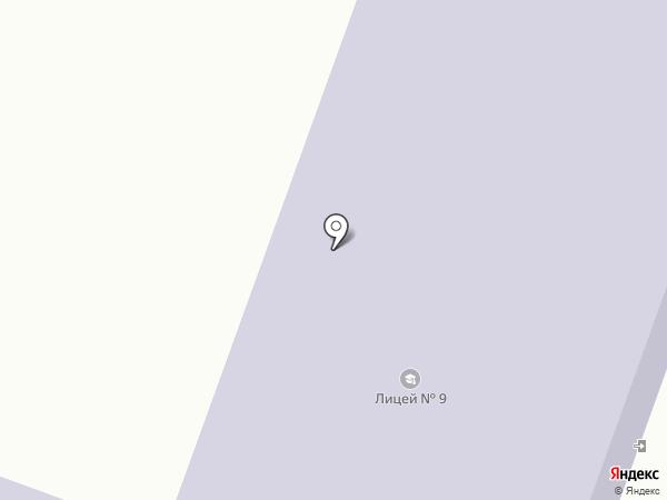 Лицей №9 на карте Каменска-Уральского
