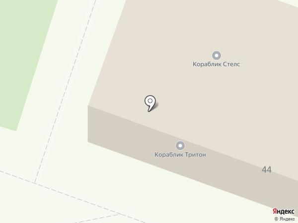 Кораблик на карте Каменска-Уральского