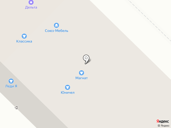 Дельта на карте Каменска-Уральского