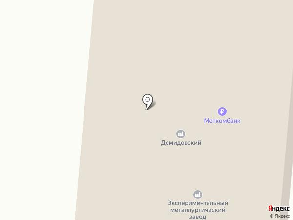 Демидовский на карте Каменска-Уральского