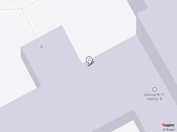 Средняя общеобразовательная школа №7 на карте Кургана