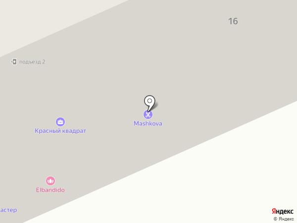 Красный квадрат на карте Кургана