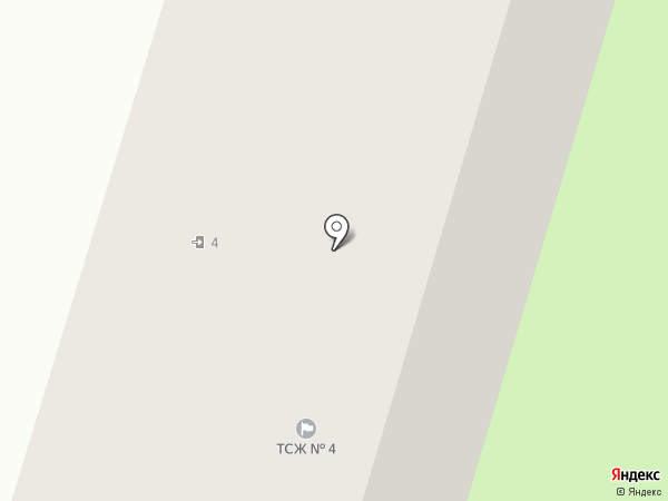 Дом №4 6-го микрорайона, ТСЖ на карте Кургана