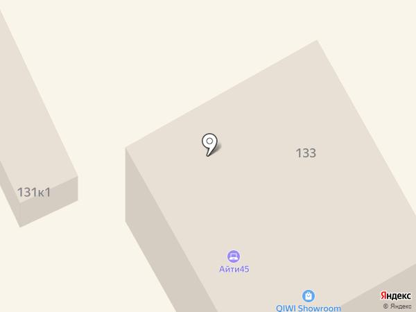 Обелиск на карте Кургана