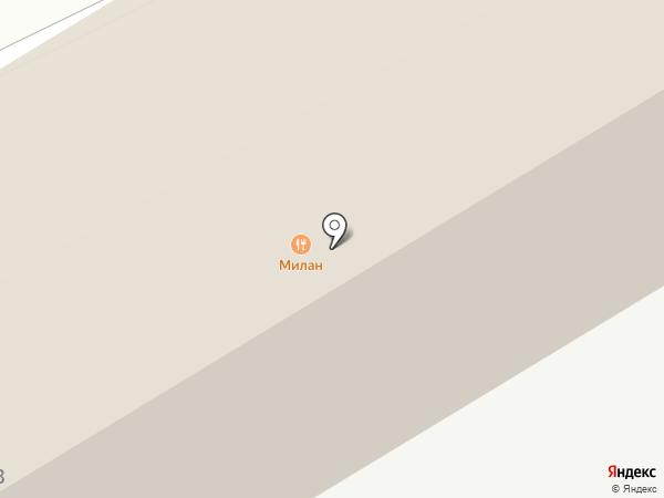 Милан на карте Кургана