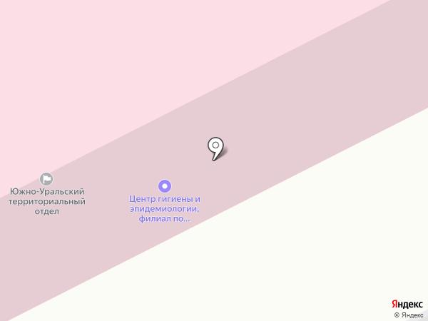 Центр гигиены и эпидемиологии по железнодорожному транспорту на карте Кургана