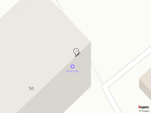 Школьник на карте Кургана