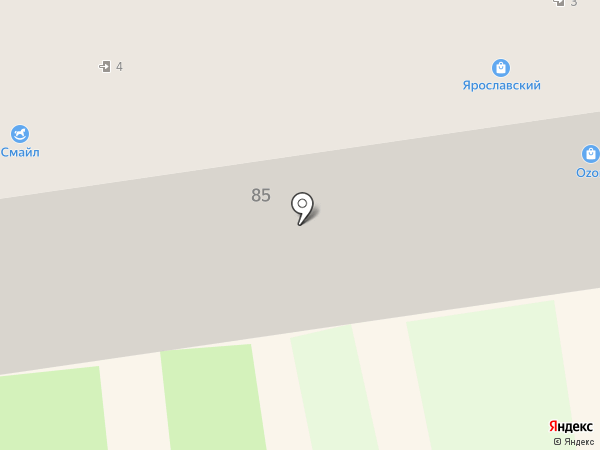 Ярославский на карте Кургана