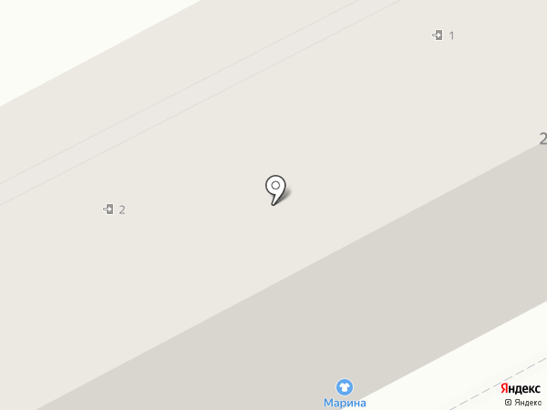 Марина на карте Кургана