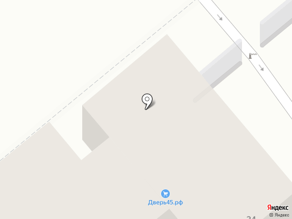 Владимирская Фабрика Дверей на карте Кургана