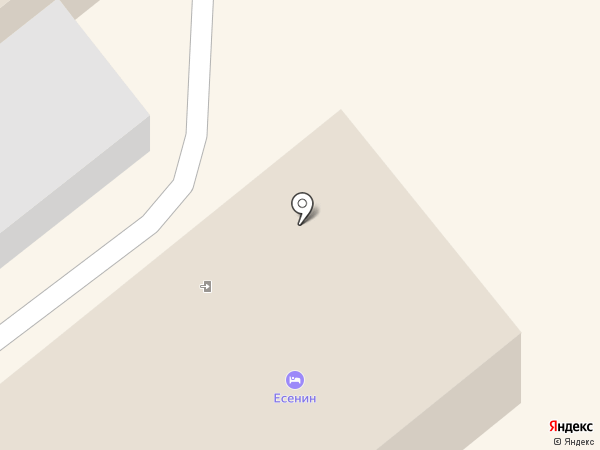 Есенин на карте Кургана