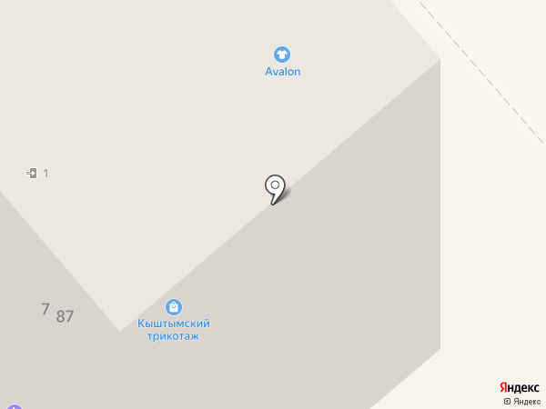 Avalon на карте Кургана