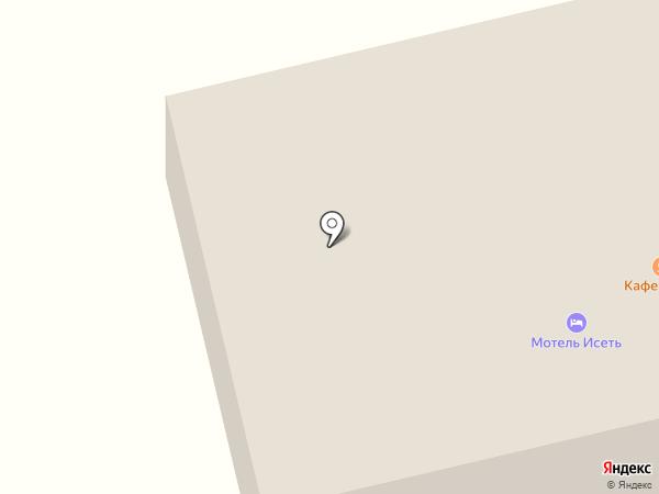 Стриж на карте Исетского