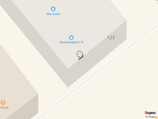 Мотозип на карте Кургана