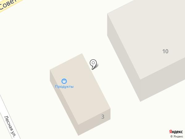 Магазин продуктов на карте Большого Чаусово