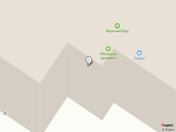 Верхний Бор на карте Тюмени