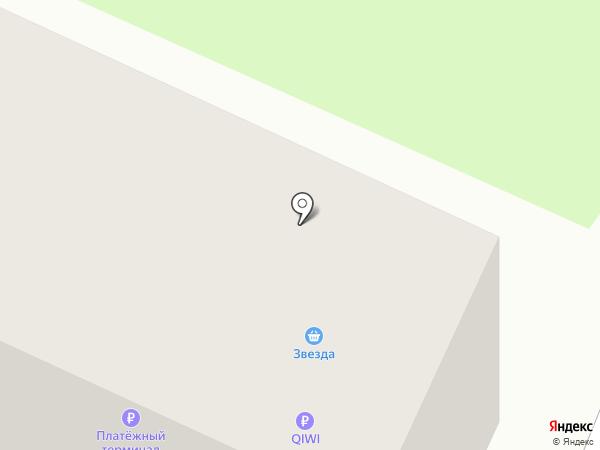 Звезда на карте Тюмени