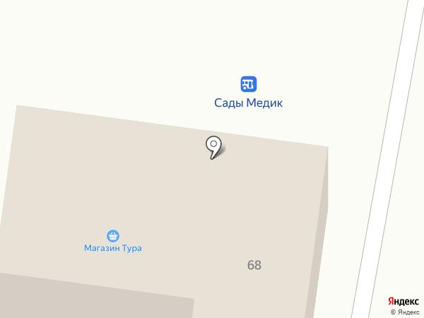 Тура на карте Тюмени
