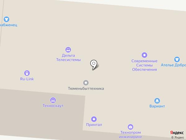 Амега на карте Тюмени