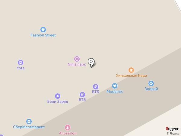 Точка продажи безалкогольных напитков на карте Тюмени
