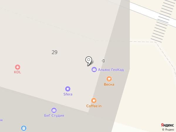 Супер Пласт на карте Тюмени