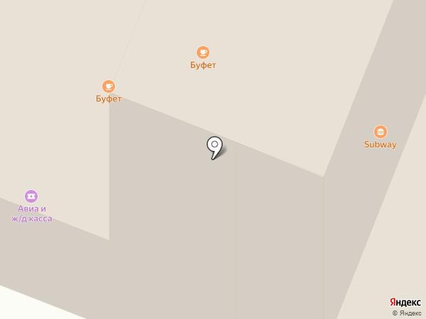 Железнодорожный вокзал на карте Тюмени