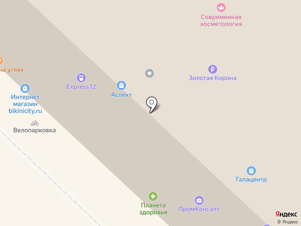 Основа на карте Тюмени