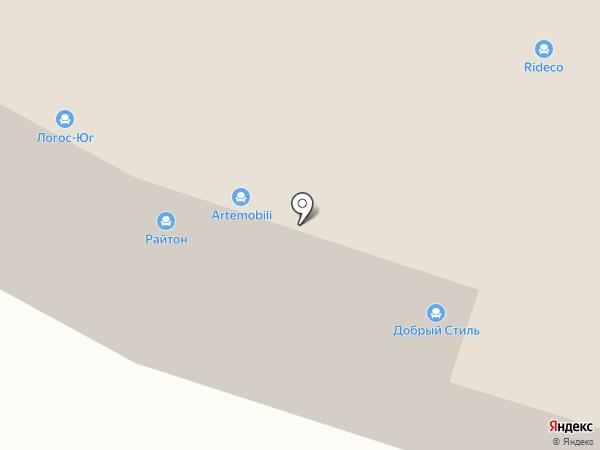 Райтон на карте Тюмени