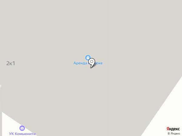 Кристалл на карте Тюмени