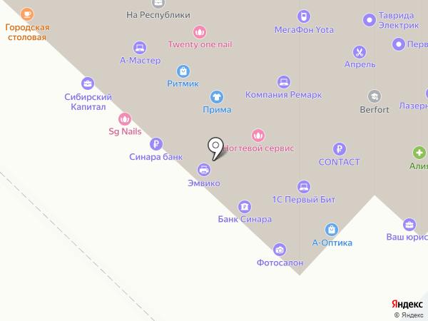 750750 на карте Тюмени