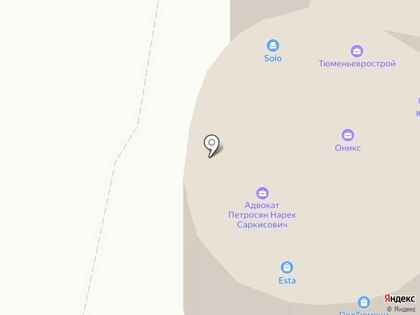 Адвокатский кабинет Панишевой Э.А. на карте Тюмени