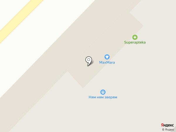Силуэт на карте Тюмени