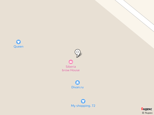 Siberia Brow House на карте Тюмени